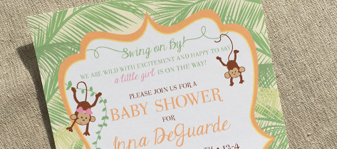 Palm Safari Baby Shower