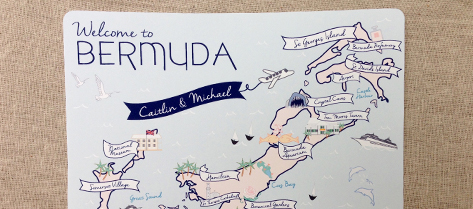 Illustrated Bermuda Map