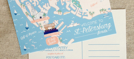 Illustrated St. Petersburg Map Save the Date
