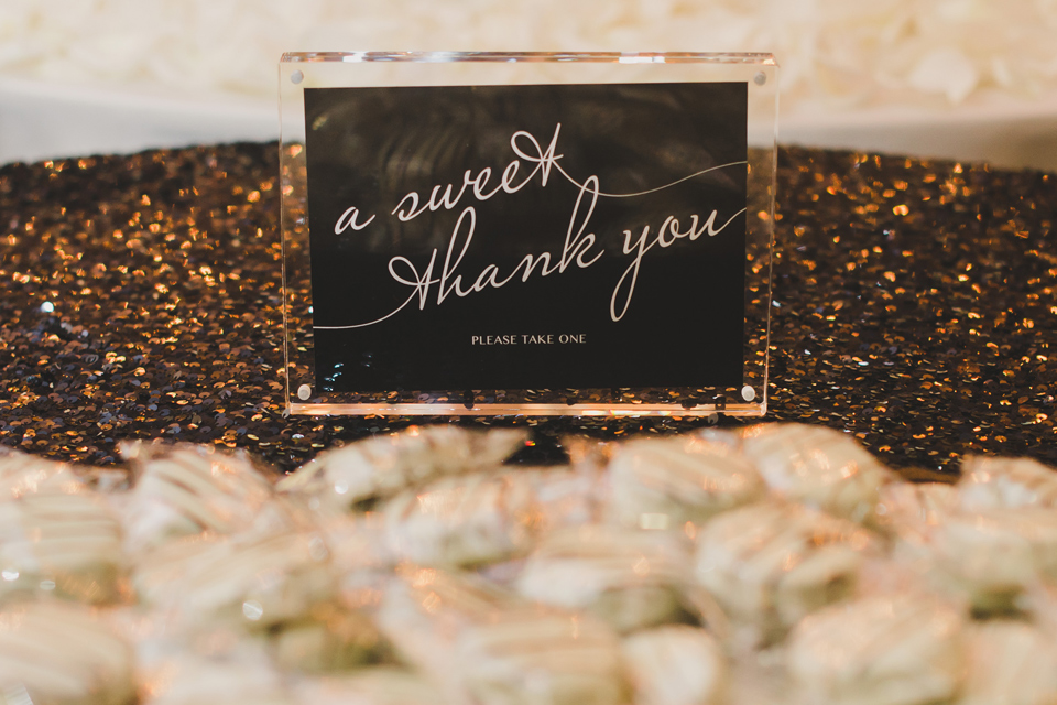 Black and White Wedding Event Signs
