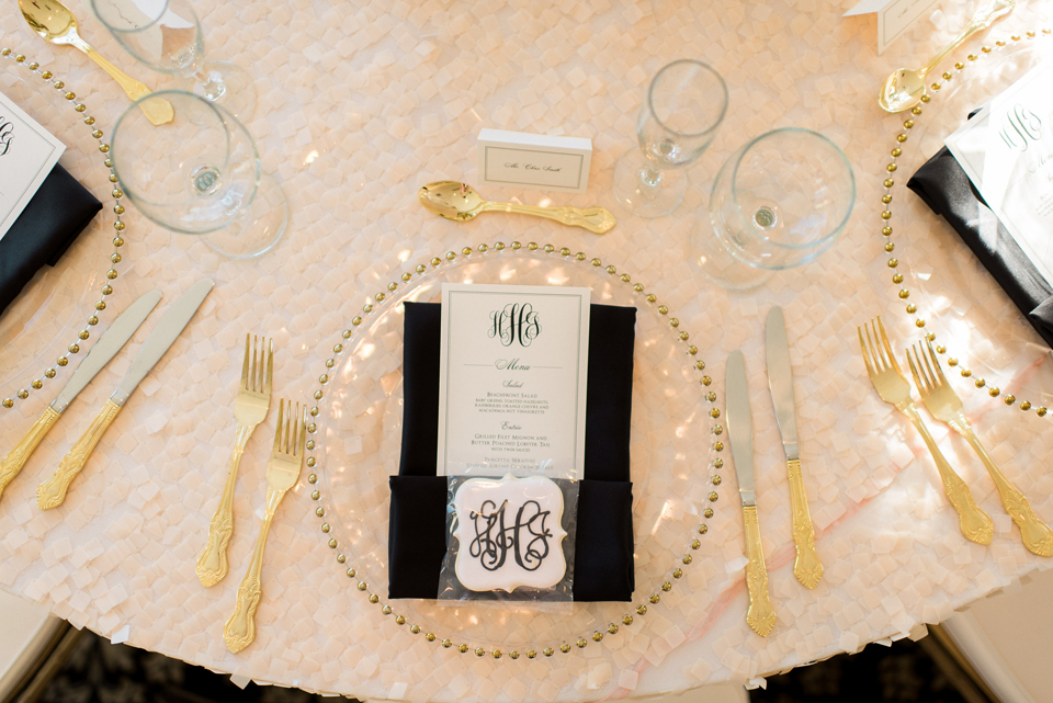 Heather and James Monogram Reception Menu