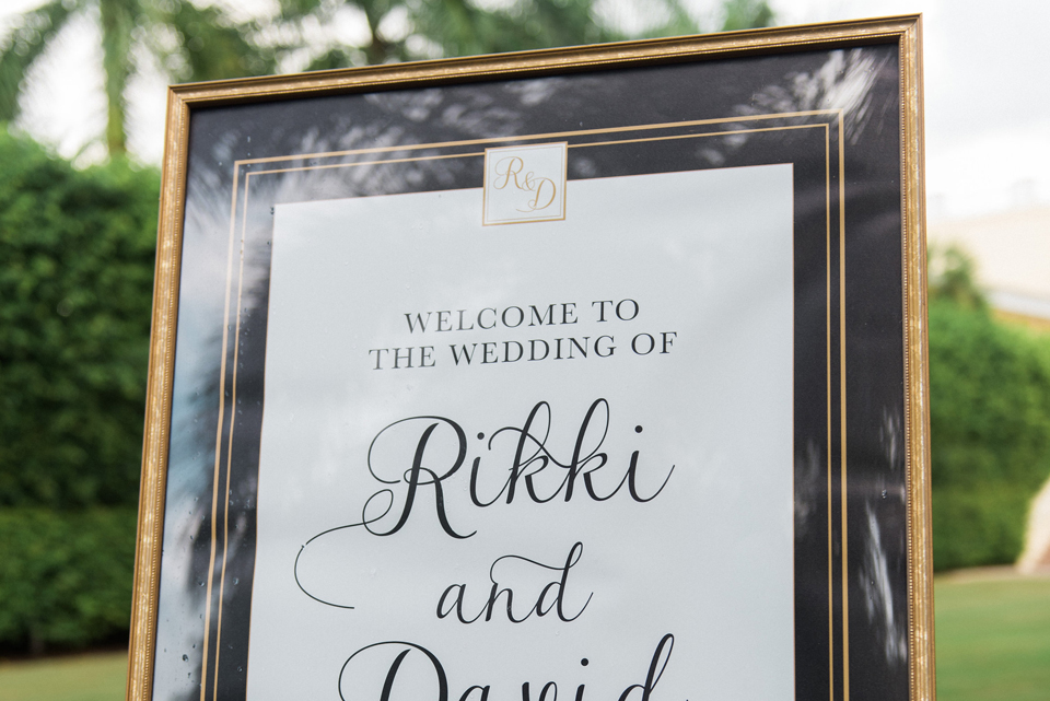 Rikki and David Welcome Sign