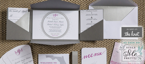 Michelle and Michael Silver Wedding Stationery