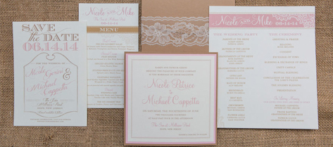 Nicole and Mike Rustic Wedding Stationery