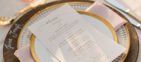 Kathleen and Francesco Calligraphy Menu